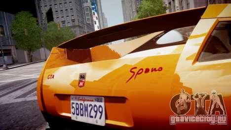 GTA Spano 2013 для GTA 4 вид изнутри