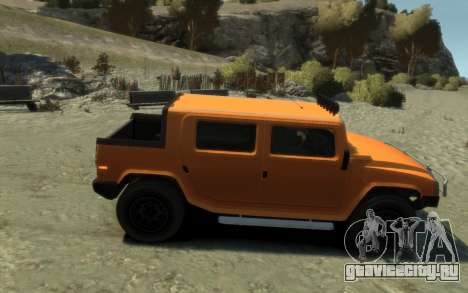 Mammoth Patriot Pickup для GTA 4 вид сзади слева