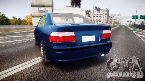 Mazda 626 для GTA 4 вид сзади слева