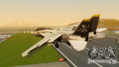 F-14A Tomcat VF-202 Superheats для GTA San Andreas вид слева