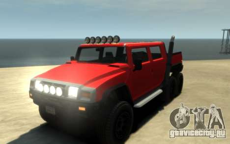 Mammoth Patriot 6x6 для GTA 4 вид изнутри