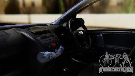 Toyota Aygo Sporting для GTA San Andreas вид справа