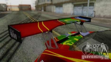 Porsche 911 GT3-RSR для GTA San Andreas вид сзади