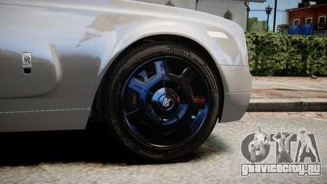 Rolls-Royce Phantom Coupe 2009 для GTA 4 вид сзади слева