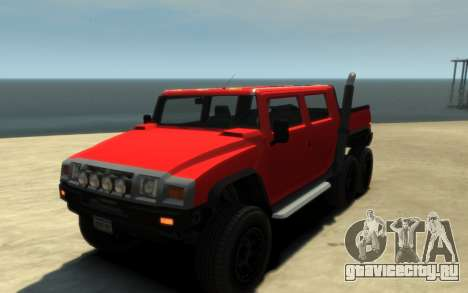 Mammoth Patriot 6x6 для GTA 4 вид сзади