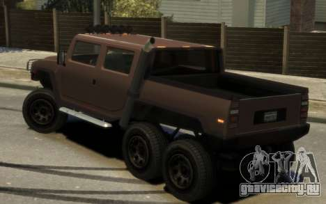 Mammoth Patriot 6x6 для GTA 4 вид слева