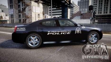 Dodge Charger Metropolitan Police [ELS] для GTA 4 вид слева