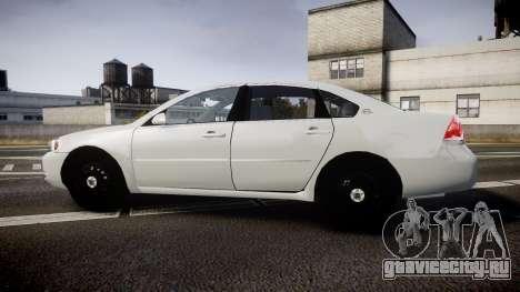 Chevrolet Impala Unmarked Police [ELS] tw для GTA 4 вид слева