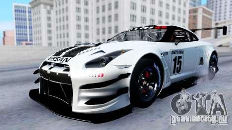 Nissan GT-R (R35) GT3 2012 PJ2 для GTA San Andreas вид изнутри