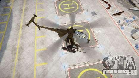 AH-6 Little Bird для GTA 4 вид сзади слева
