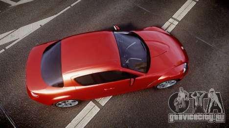 Mazda RX-8 2006 v3.2 Advan tires для GTA 4 вид справа
