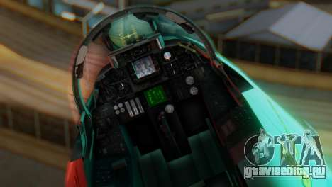 F-14A Tomcat Marynarka Wojenna RP для GTA San Andreas вид сзади
