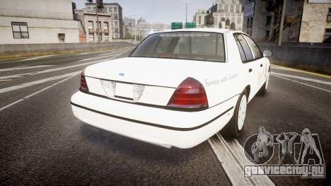 Ford Crown Victoria Sacramento Sheriff [ELS] для GTA 4 вид сзади слева