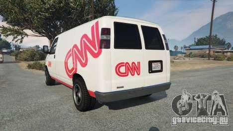 Bravado Rumpo CNN v0.2 для GTA 5 вид сзади слева