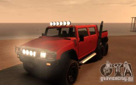 Mammoth Patriot 6x6 для GTA 4 вид сбоку