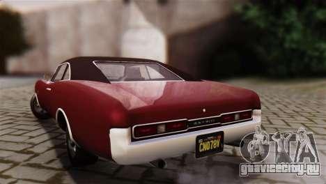 GTA 5 Imponte Dukes IVF для GTA San Andreas вид слева