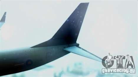 Boeing 737-800 Royal Air Force для GTA San Andreas вид сзади слева