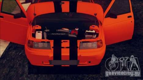 ВАЗ 2112 Turbo для GTA San Andreas вид сзади