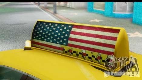 New Taxi для GTA San Andreas вид сзади