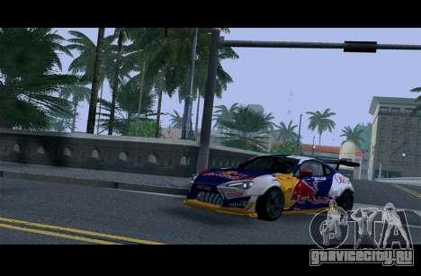 Toyota GT86 Red Bull для GTA San Andreas вид изнутри