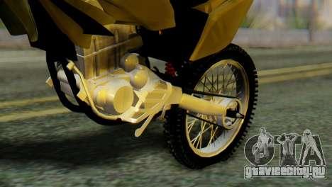 Honda Tornado для GTA San Andreas вид сзади