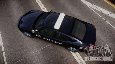 Dodge Charger Metropolitan Police [ELS] для GTA 4 вид справа