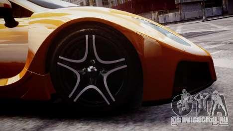 GTA Spano 2013 для GTA 4 вид сзади