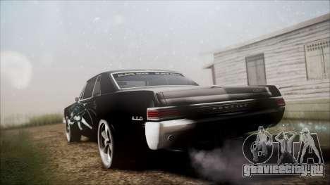 Pontiac GTO Black Rock Shooter для GTA San Andreas вид слева