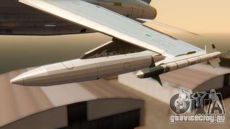 Embraer A-1 AMX FAB для GTA San Andreas вид справа