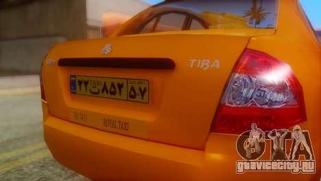 Tiba Taxi v1 для GTA San Andreas вид сзади