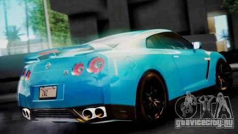 Nissan GT-R 2015 для GTA San Andreas вид сзади слева
