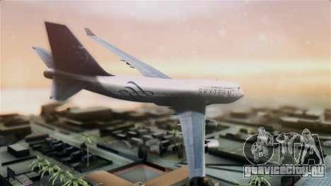 Boeing 747-400 Garuda Indonesia Sky Team для GTA San Andreas вид слева