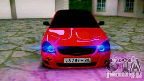 Lada 2170 Priora Спартак Москва для GTA San Andreas вид справа
