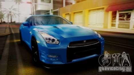 Nissan GT-R 2015 для GTA San Andreas вид сбоку