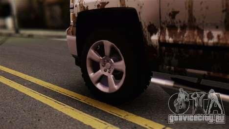Chevrolet Silverado Enlodada для GTA San Andreas вид сзади слева