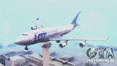 LOT Polish Airlines Boeing 747-400 для GTA San Andreas