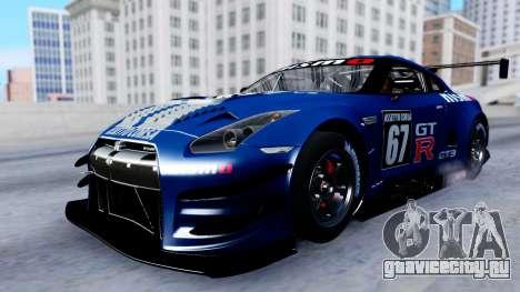 Nissan GT-R (R35) GT3 2012 PJ2 для GTA San Andreas вид сверху