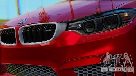 BMW M4 2015 HQLM для GTA San Andreas вид справа