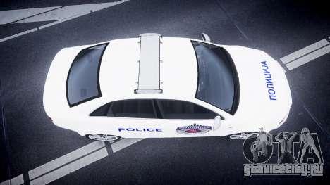 Audi RS4 Serbian Police [ELS] для GTA 4 вид справа