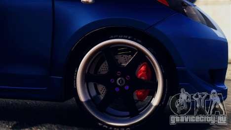 Toyota Yaris S 2008 для GTA San Andreas вид сзади
