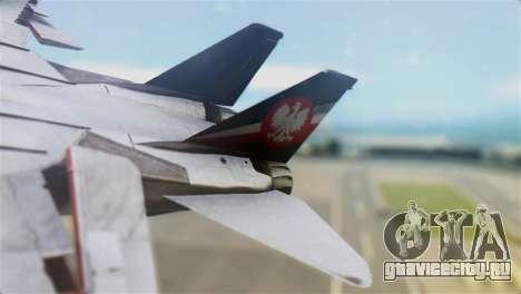 F-14D Super Tomcat Polish Navy для GTA San Andreas вид сзади слева