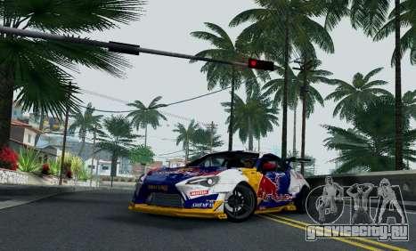 Toyota GT86 Red Bull для GTA San Andreas вид справа