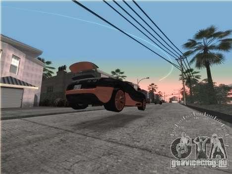 Простой спидометр для GTA San Andreas третий скриншот