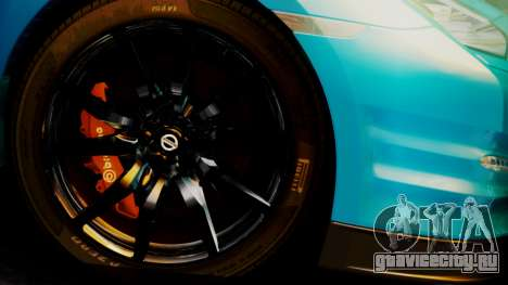 Nissan GT-R 2015 для GTA San Andreas вид справа
