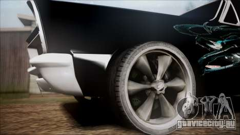 Pontiac GTO Black Rock Shooter для GTA San Andreas вид сзади слева