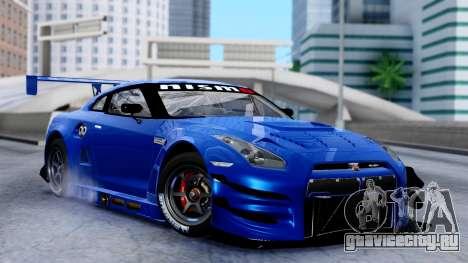 Nissan GT-R (R35) GT3 2012 PJ2 для GTA San Andreas