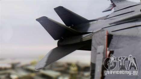 F-14A Tomcat VF-51 Screaming Eagles для GTA San Andreas вид сзади слева
