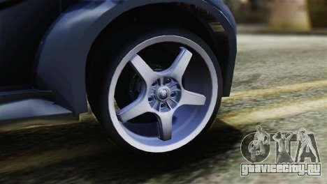 Toyota Aygo Sporting для GTA San Andreas вид сзади слева