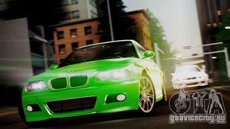 BMW M3 E46 v2 для GTA San Andreas вид сзади слева