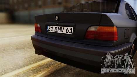 BMW 320i для GTA San Andreas вид сзади